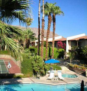 Palm Springs condo rental - View from Front Balcony