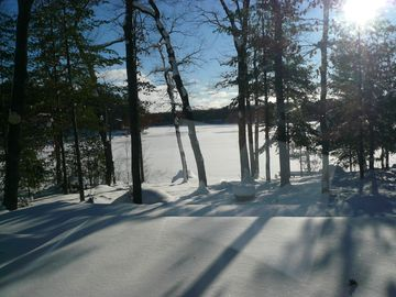 Lewiston house rental - Winter beauty & family fun on Little Wolf Lake...