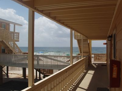 Yes, you are this close to the beach from the condo's front door!