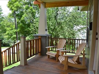 Lake Placid house photo - Sunny Front Porch.