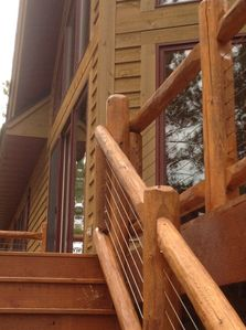 Access to the deck and three season room for relaxing and grilling