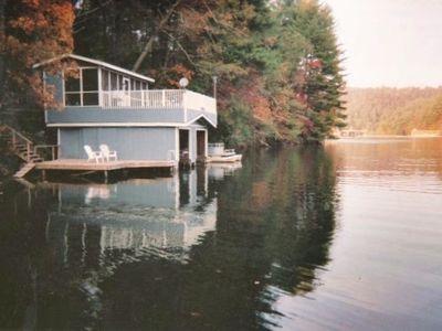 Boathouse with screened porch, galley and swim dock