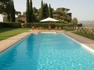 Rieti Province villa photo - Villa Mary - Pool with view of the villa