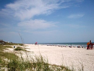 Enjoy the beach at Seaside Park, miles of sand less than 2 blocks away.