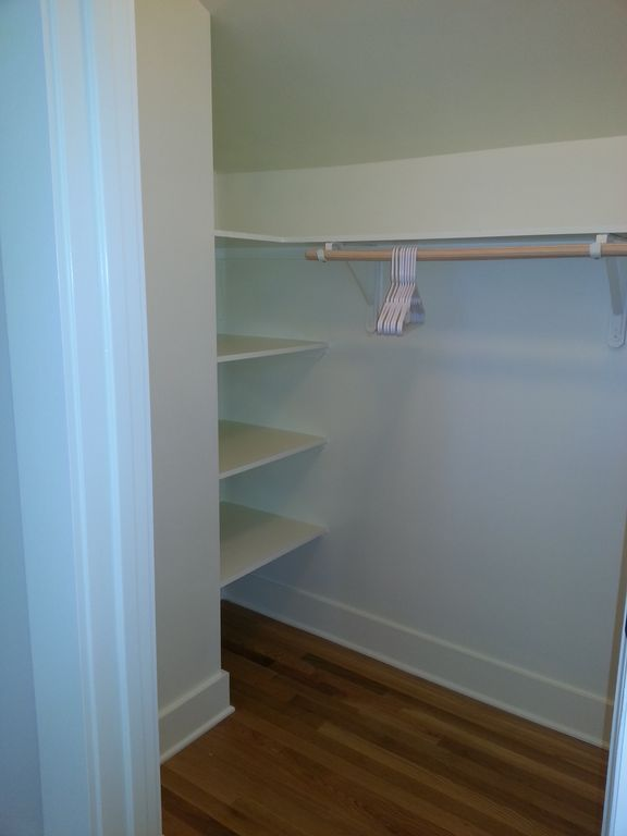 Large walk in closet off the bedroom.