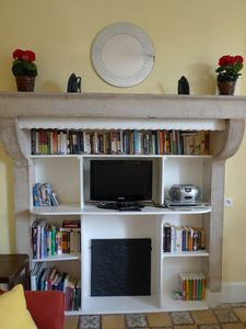 Ancient Burgundian Fireplace in living room