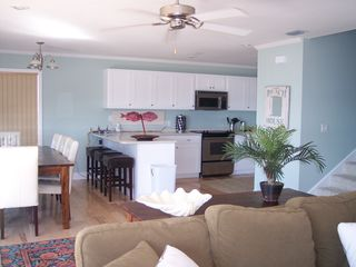 Cape San Blas house photo - Looking from the living toward dining and kitchen area