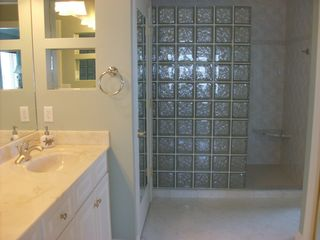 Bahia Vista I Ocean City condo photo - Master Bathroom with Walk-In Shower and Double Sink