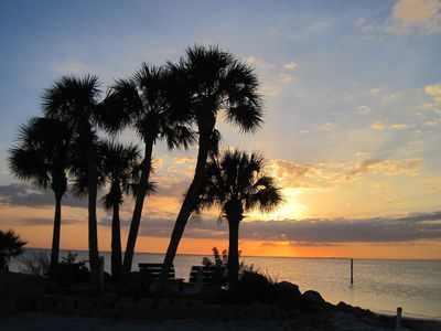 Gulf Harbors house rental - Sunset at private beach
