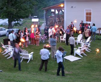 Great back yard for cookouts, bonfires, and gatherings.
