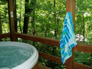 Maggie Valley cabin photo - Enjoy the secluded hot tub off the master bedroom