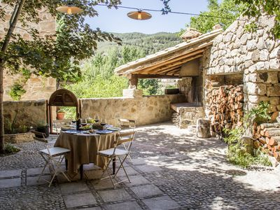 Rural face with charm in Olba (Teruel) next to the river Mijares