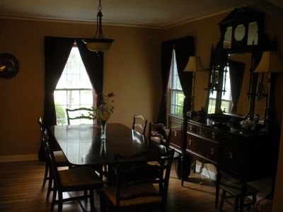 Dining room with mahogany furniture