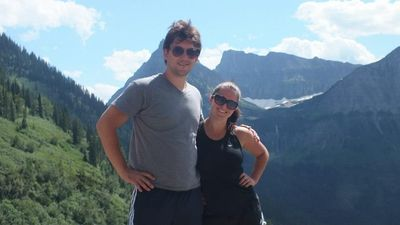 The owners, siblings, Luke and Samantha at Glacier National Park