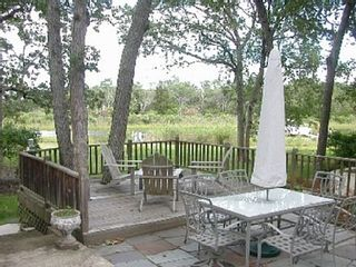 Sag Harbor house photo - Patio dining for 6, Adirondack chairs on our deck, all overlooking the channel.