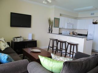 Tidewater Beach Resort condo photo - Living Room and Kitchen
