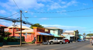 Paia Town with great restaurants and boutiques.