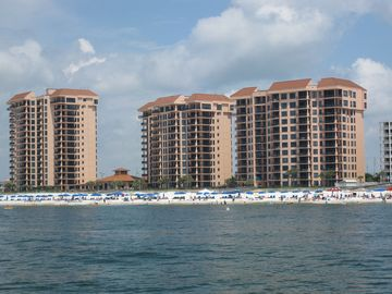 Orange Beach condo rental - View of Seachase from the Gulf of Mexico