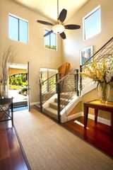 Healdsburg estate photo - Front door foyer area stairs leading to second level.