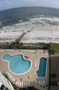 View of Pools and Beach from Balcony!