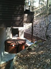 Saugatuck / Douglas cottage photo - hot tub tucked into the wood dunes