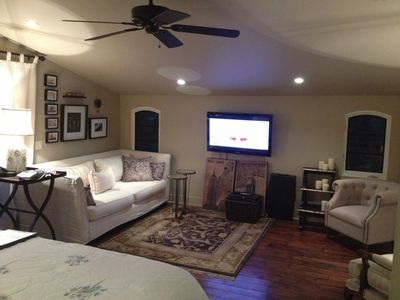 Living room with 50' plasma T.V.