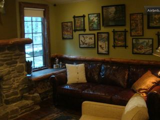 Tannersville cabin photo - Vintage paint-by-numbers on wall