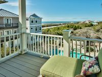 Gorgeous poolside home in Inlet Beach, short walk to beach, media room, Gulf views: Seaside Spotlight