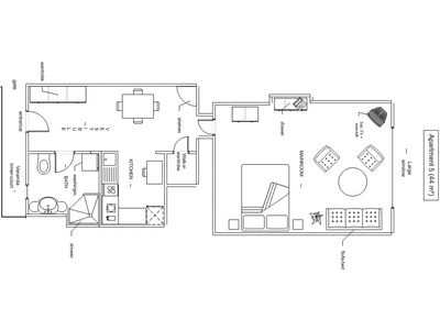 Budapest apartment rental - Apartment 5 - sketch
