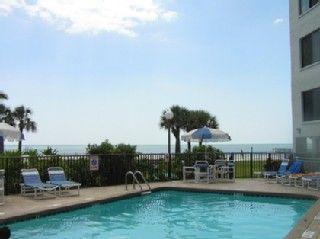 St Pete Beach condo photo - Swimming pool with built in Jacuzzi