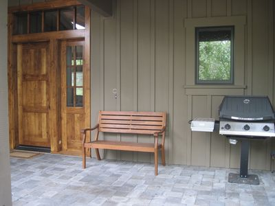 Front entry with barbecue