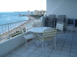 Isla Verde condo photo - Awesome view from the Balcony