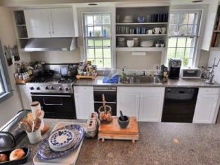 Edgartown house photo - Chef's Kitchen Is Well-Equpped With New Hampshire Granite Countertops, Prep Island & Commerical Stainless Appliances
