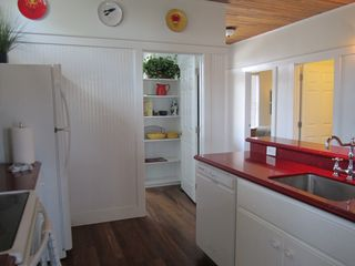 Harbor Island house photo - Kitchen opens to large laundry room with full size W/D and extra storage!