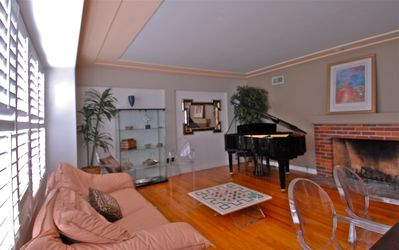 living room - yamaha baby grand piano