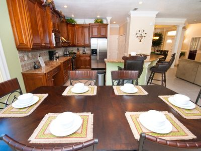 Gourmet kitchen,Granite counters w/breakfast area and bar. Watch TV while eating