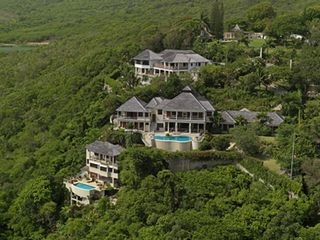 Montego Bay villa photo - Seen from the air, the main house and the adjacent cottage with separate pool.