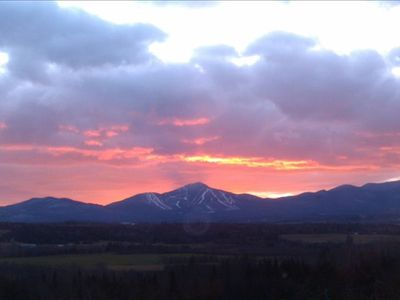 North Troy chateau / country house rental - Sunset over Jay Peak