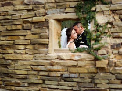 Wedding Photos in the Cottage Courtyard