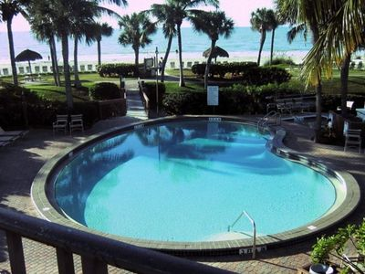 Heated Gulf side swimming pool