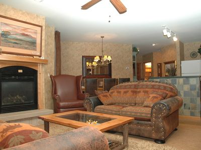 Living area w/gas fire place