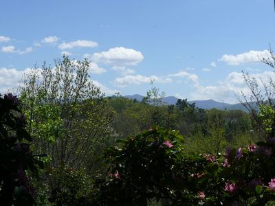 Weaverville apartment rental - Mountain view from front patio.