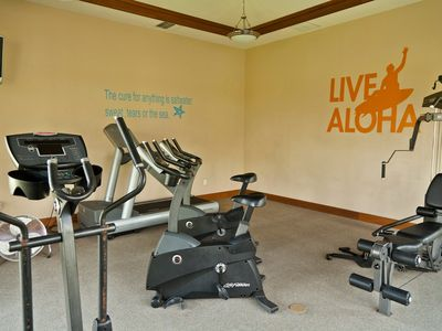 Work out in the Golf Villas Fitness Center