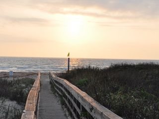 South Padre Island condo photo - Sunrise on walkway to the beach