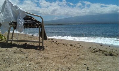 Relax on your Private Beach in front of your Maui 'Hale'