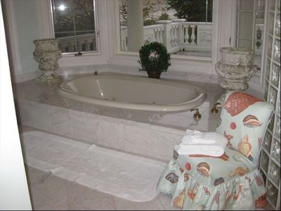 One of the home's relaxing jacuzzi tubs in the girls wing.