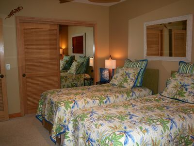 Whimsical 2nd Bedroom with twin beds or can be King Size.