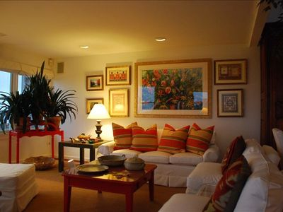 Lewes condo rental - Living Room at Dusk