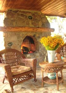 Buffalo Cottage Outdoor Fireplace