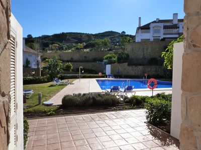 La Cala de Mijas house rental - Pool through front door